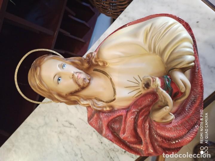 Antigüedades: SAGRADO CORAZÓN DE JESÚS ESCAYOLA - Foto 2 - 187427138