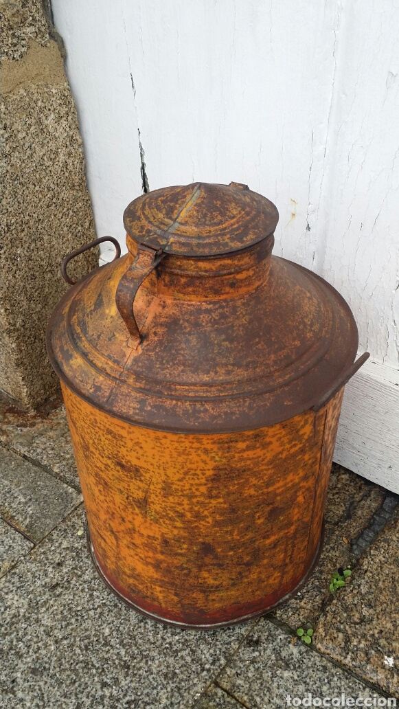 Antigüedades: Antigua aceitera industrial - Foto 3 - 187429195
