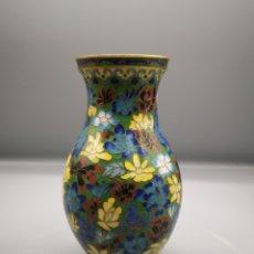 Antigüedades: JARRON CLOISONE DE VIVOS COLORES. Lote 187434178