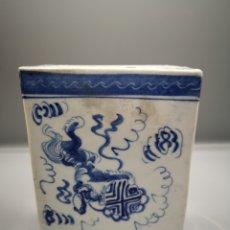 Antigüedades: INCIENSARIO CHINO EN POECELANA. Lote 187437547