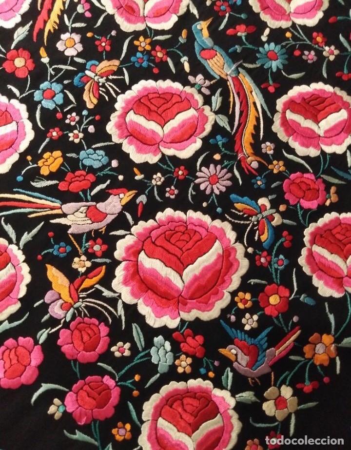 Antigüedades: Precioso mantón de Manila antiguo - Foto 3 - 187444736