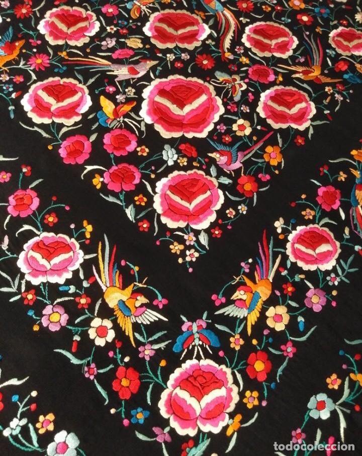 Antigüedades: Precioso mantón de Manila antiguo - Foto 7 - 187444736