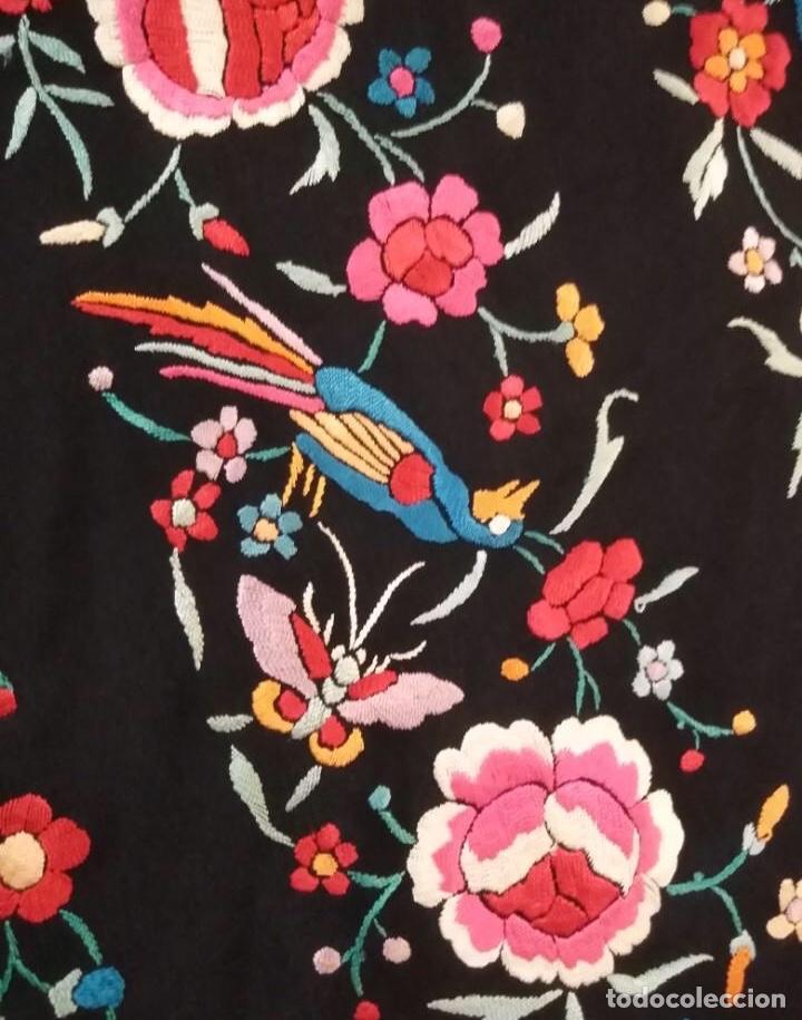 Antigüedades: Precioso mantón de Manila antiguo - Foto 9 - 187444736