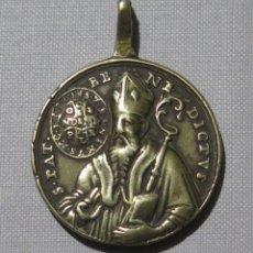 Antigüedades: MEDALLA DE BRONCE SAN BENITO. N. S. MONTSERRAT. SIGLO XVIII. Lote 187457588