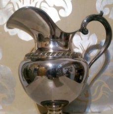 Antigüedades: JARRA DE ALPACA PLATEADA LABRADA. Lote 187465553