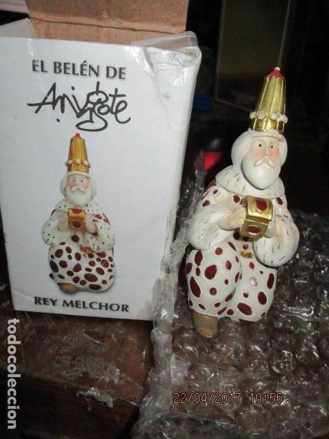 MELCHOR REY MAGO DE MINGOTE EN SU CAJA ORIGINAL (Antigüedades - Hogar y Decoración - Otros)