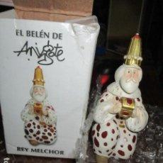 Antigüedades: MELCHOR REY MAGO DE MINGOTE EN SU CAJA ORIGINAL. Lote 187471395
