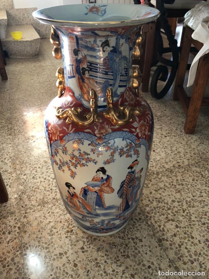 Antigüedades: Jarrón muy grande de cerámica china, con sello. - Foto 5 - 165229826