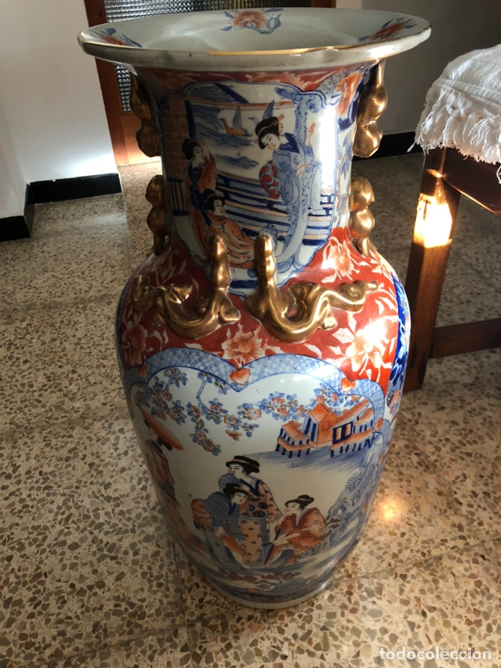 Antigüedades: Jarrón muy grande de cerámica china, con sello. - Foto 7 - 165229826