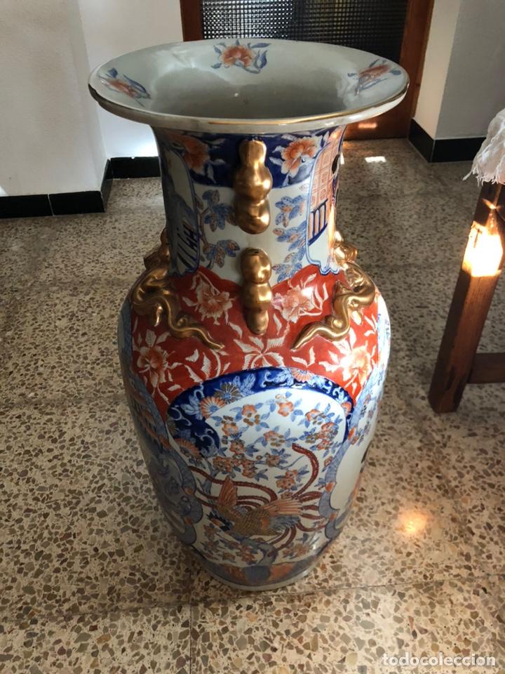 Antigüedades: Jarrón muy grande de cerámica china, con sello. - Foto 8 - 165229826