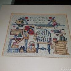 Antigüedades: PRECIOSO TAPIZ EN PUNTO DE CRUZ. Lote 187499550