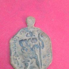 Antigüedades: ANTIGUA MEDALLA DE SAN CRISTÓBAL. S XVIII. 2,4 X 3,5 CM.. Lote 187506112