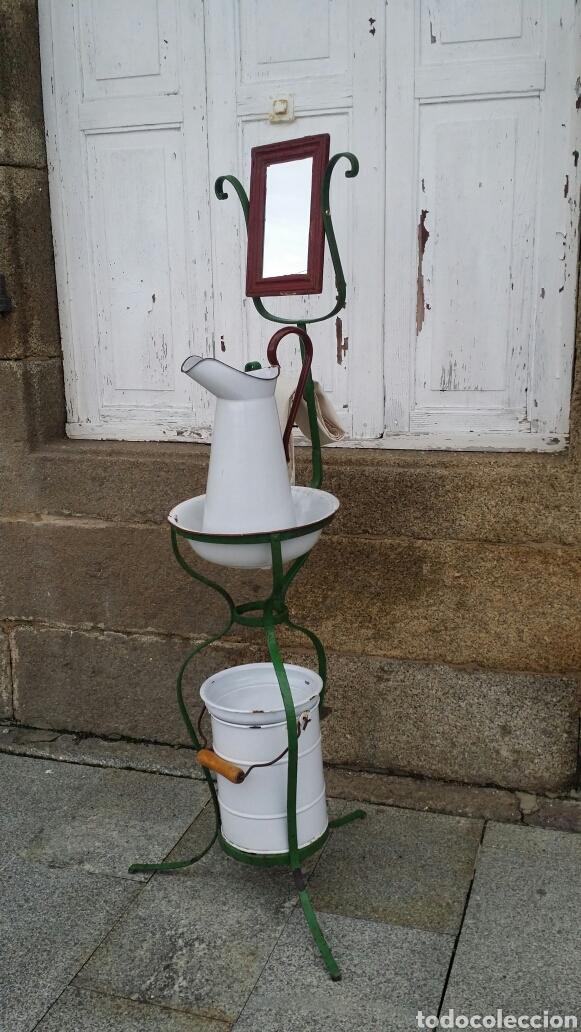 Antigüedades: Antiguo lavabo de forja, principios s. XX - Foto 4 - 187522936