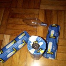Antigüedades: BOMBILLAS TIPO VELA 125V NUEVAS. Lote 187532697