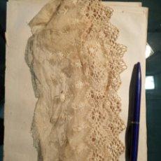 Antigüedades: ENCAJE DE BOLILLOS XIX. Lote 187534376