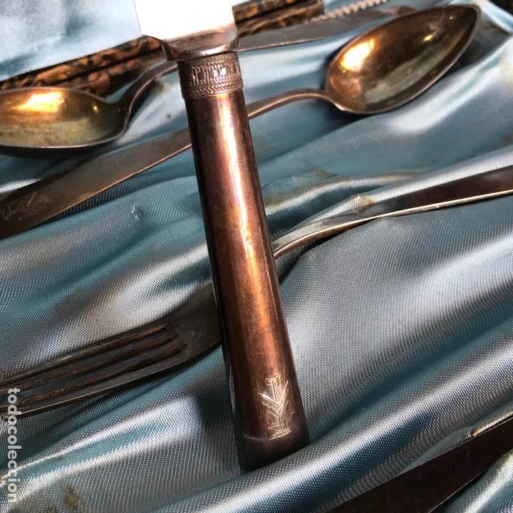 Antigüedades: Cubiertos de plata marcada vera - Ver fotos - Foto 4 - 187536803
