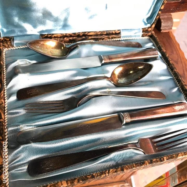 Antigüedades: Cubiertos de plata marcada vera - Ver fotos - Foto 7 - 187536803