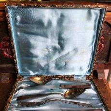 Antigüedades: CUBIERTOS DE PLATA MARCADA 'VERA' - VER FOTOS. Lote 187536803