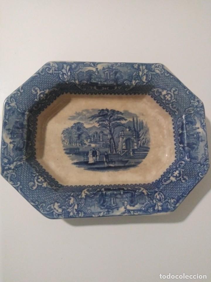 SARGADELOS, PICKMAN PRECIOSA BANDEJA SIGLO XIX (Antigüedades - Porcelanas y Cerámicas - San Juan de Aznalfarache)