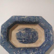 Antigüedades: SARGADELOS, PICKMAN PRECIOSA BANDEJA SIGLO XIX. Lote 187542152