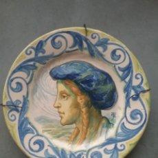 Antigüedades: PLATO CERÁMICA PINTADO A MANO JOSEP GUARDIOLA 1922.. Lote 187571535