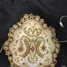 Antigüedades: ANTIGUO ESCAPULARIO BORDADO. Lote 187581296
