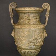 Antigüedades: COPA TROFEO ANTIGUO CALAMINA FIRMADA HENRY FUGERE. Lote 187581590