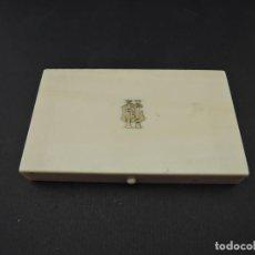 Antigüedades: CAJA INGLESA MARFIL Y PLATA VICTORIANA SIGLO XIX. Lote 187609536
