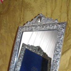 Antigüedades: ESPEJO PLATA DE LEY PEDRO DURAN 24 X 30 CMS. Lote 187617335