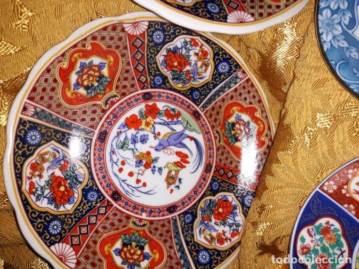 Antigüedades: Lote de platos Japon 9 platos - Foto 4 - 187633393