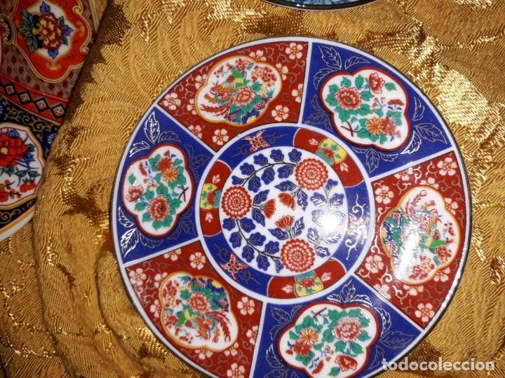 Antigüedades: Lote de platos Japon 9 platos - Foto 5 - 187633393