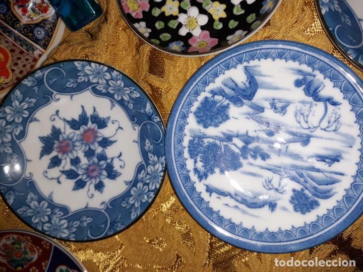 Antigüedades: Lote de platos Japon 9 platos - Foto 6 - 187633393