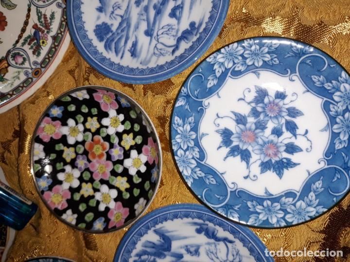 Antigüedades: Lote de platos Japon 9 platos - Foto 7 - 187633393