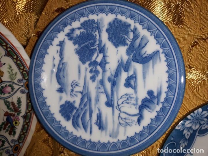 Antigüedades: Lote de platos Japon 9 platos - Foto 8 - 187633393