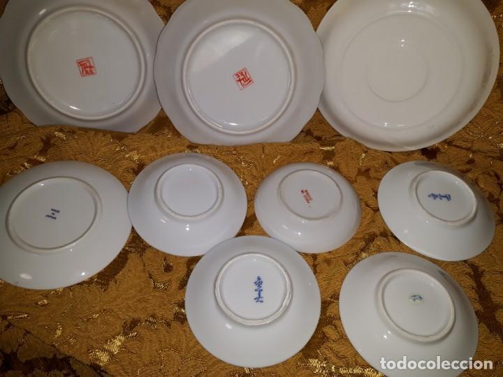 Antigüedades: Lote de platos Japon 9 platos - Foto 9 - 187633393