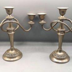 Antigüedades: PAREJA DE CANDELABROS. Lote 187641051