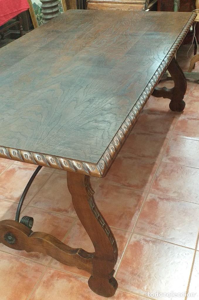 Antigüedades: MESA RENACENTISTA PATA DE LIRA - Foto 10 - 80230561