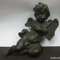 Antigüedades: ANGELITO DE PASTA PINTADO. .15 CM.. Lote 187906271