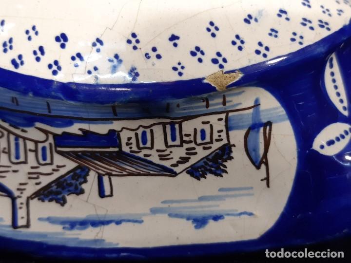 Antigüedades: Salsera de cerámica esmaltada. Azul sobre blanco. Delft. Holanda. Siglo XIX. - Foto 12 - 187933430