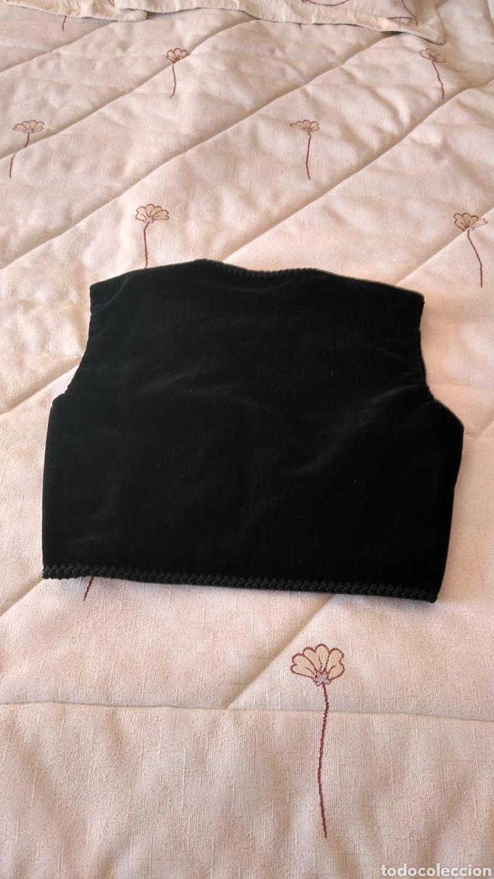 Antigüedades: Chaleco terciopelo antiguo de algodón con pasamanería - Foto 3 - 187970892