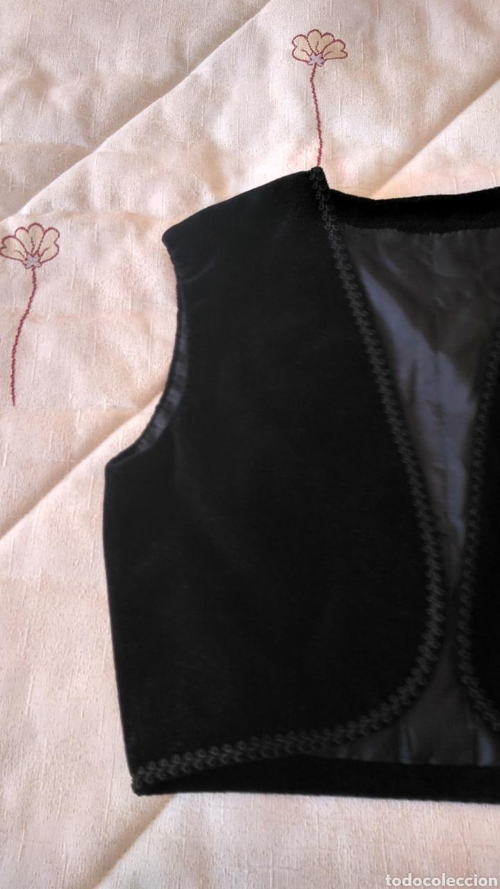 Antigüedades: Chaleco terciopelo antiguo de algodón con pasamanería - Foto 5 - 187970892