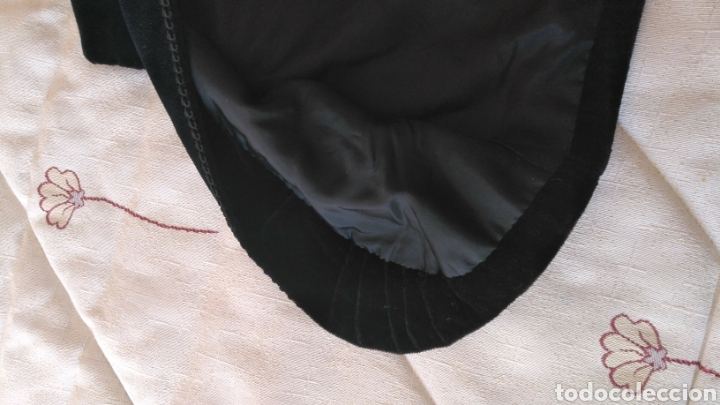 Antigüedades: Chaleco terciopelo antiguo de algodón con pasamanería - Foto 8 - 187970892
