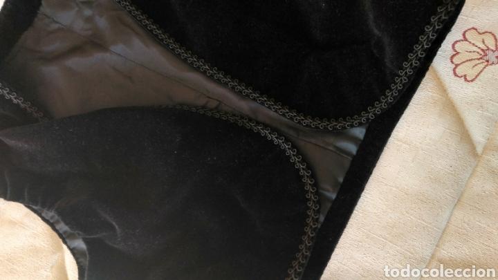 Antigüedades: Chaleco terciopelo antiguo de algodón con pasamanería - Foto 9 - 187970892