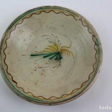 Antigüedades: PLATO DE CERAMICA CATALANA ESMALTADA. FINALES S.XIX.. Lote 188401172