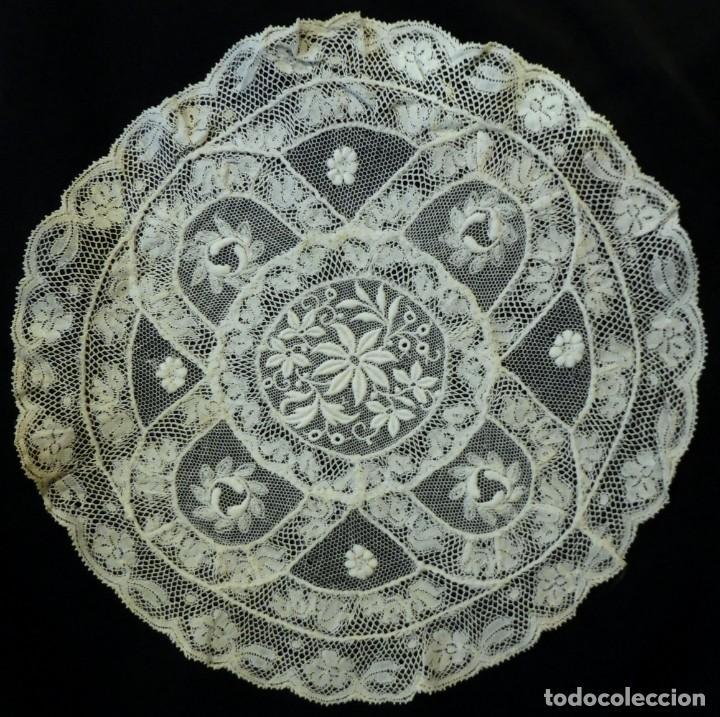 Antigüedades: ANTIGUO TAPETE DE ENCAJE DE NORMANDÍA PPIO. S. XX - Foto 4 - 188403878