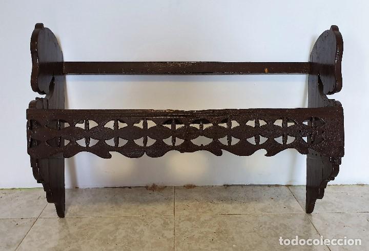 ANTIGUO PLATERO DE COLGAR (Antigüedades - Muebles Antiguos - Auxiliares Antiguos)
