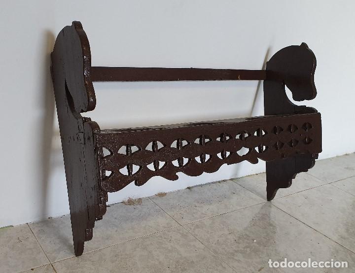 Antigüedades: ANTIGUO PLATERO DE COLGAR - Foto 2 - 188417676