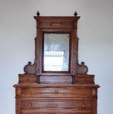 Antigüedades: ANTIGUA COMODA CON ALTILLO ESPEJO. Lote 188418043