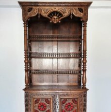 Antigüedades: ANTIGUO PLATERO CUBERTERO DE ROBLE. Lote 188418586