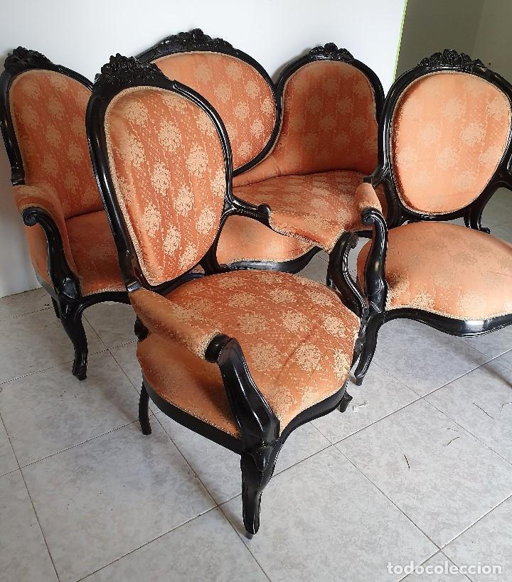 CONJUNTO DE SOFA Y SILLONES (Antigüedades - Muebles Antiguos - Sofás Antiguos)